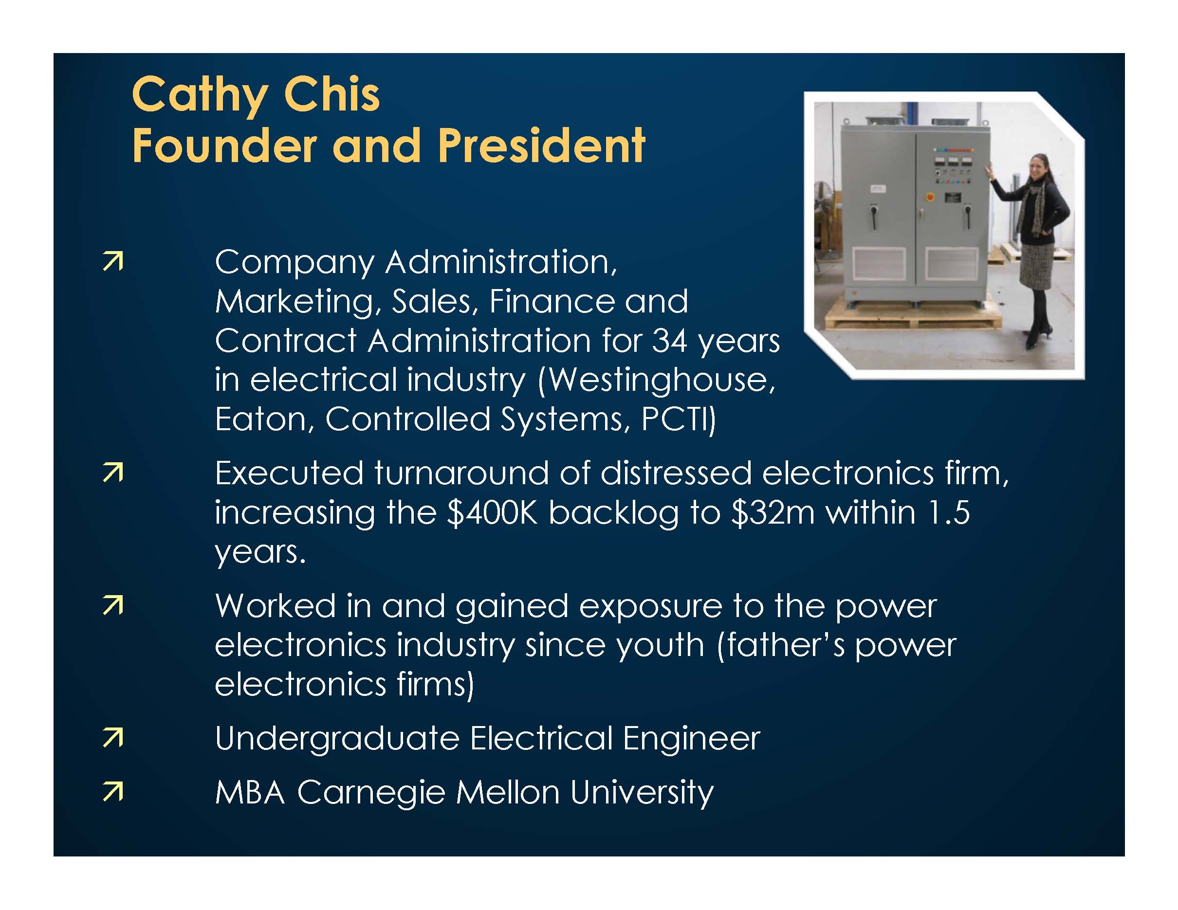 Cathy Chis, Founder and President