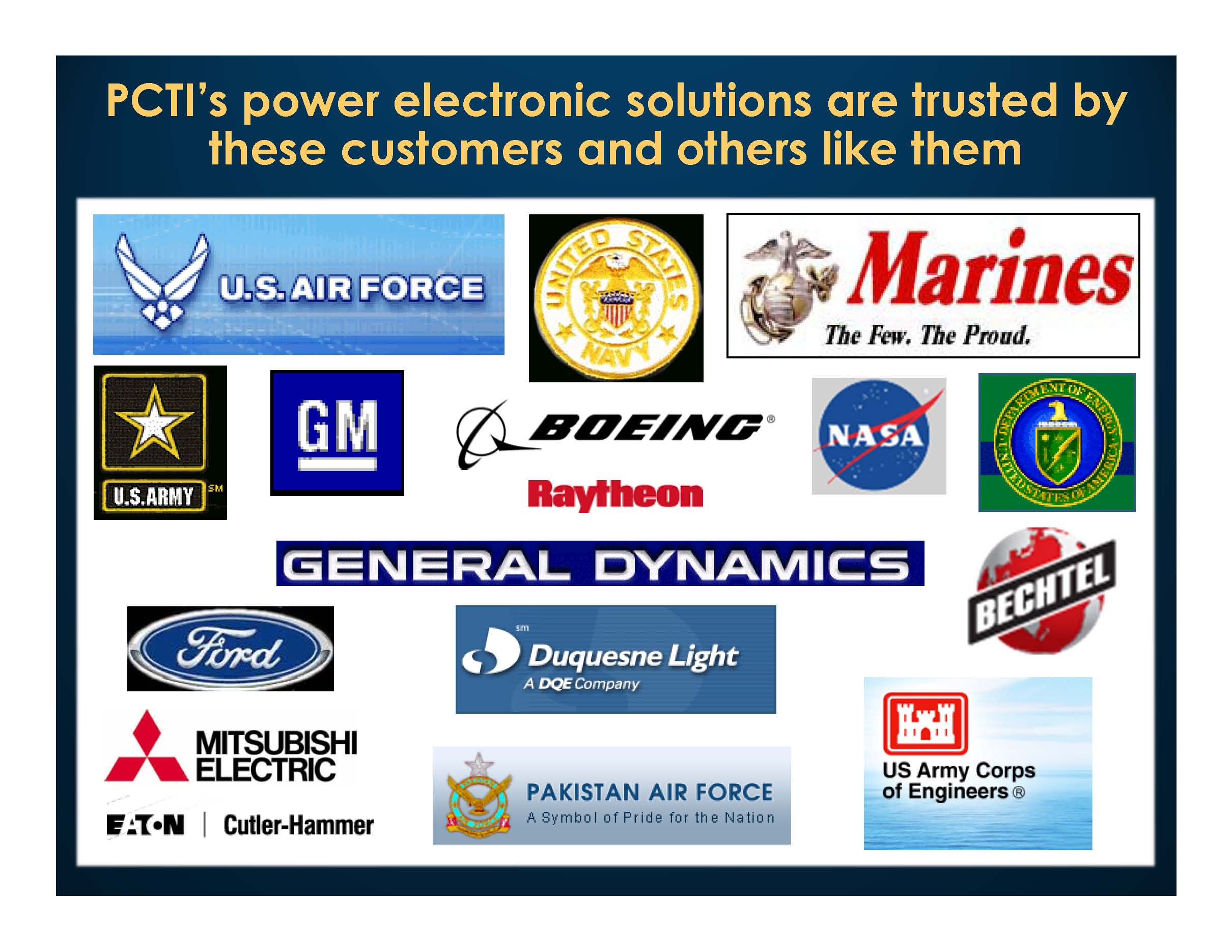 PCTI's Customers