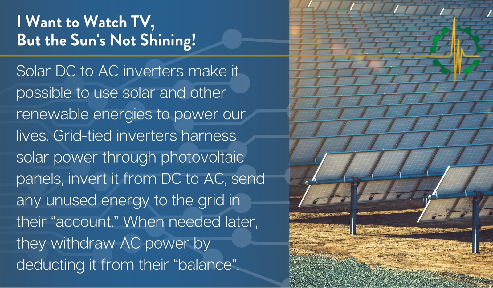Solar DC to AC inverters make it possible to use renewable energy to power our lives.