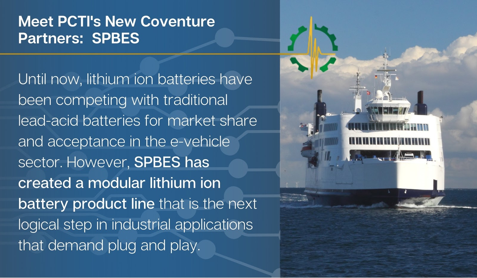 Conventure Partner: SPBES on lithium ion batteries