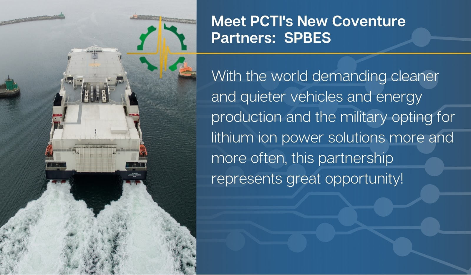 Conventure Partner: SPBES Lithium ion power solutions