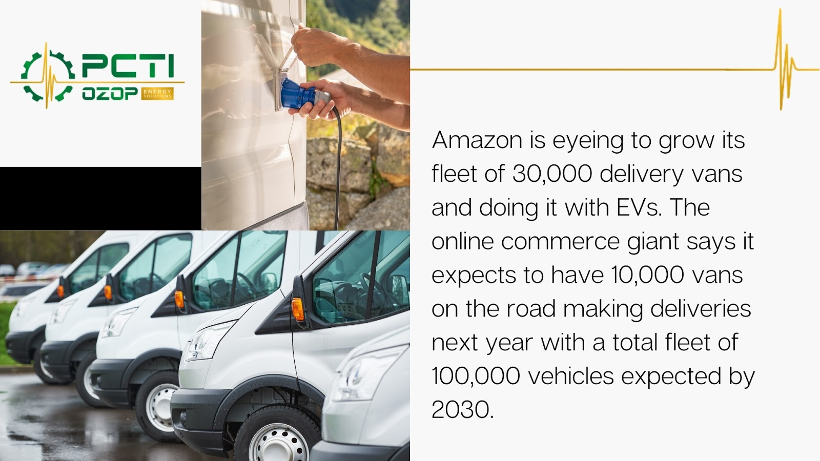 Amazon is eyeing to grow its fleet of 30,000 delivery vans and doing it with EVs